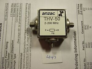 Image Is Loading Anzac THV 50 2 200 MHz Power Divider