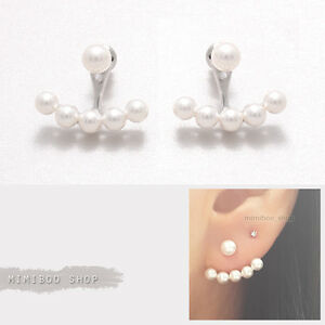 ear front fashion earrings women double summer style girls crystal jisensp jacket sided item stud back for