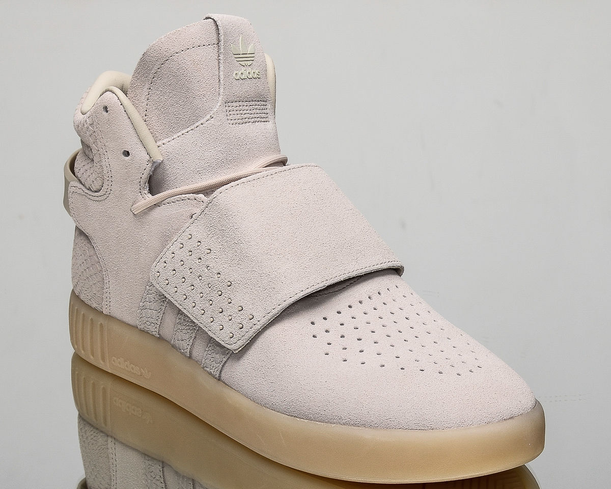 Adidas Originals Tubular Invader Strap Men's New Light Grey Casual shoes BB8943