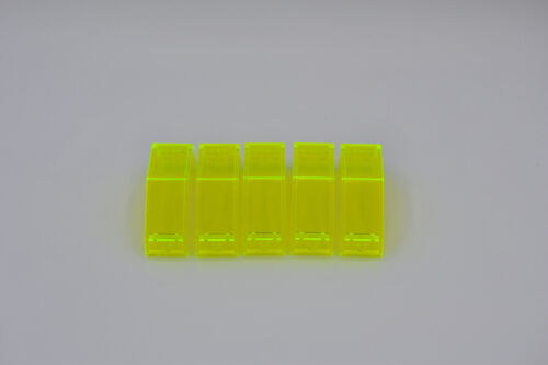 LEGO 5 x Space mur 3x2x6 VERT FLUO TRANS NEON GREEN wallelement Curved 2466