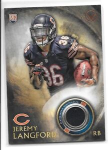 Details about 2015 Topps Valor Jeremy Langford RC Rookie Relic Jersey Chicago Bears
