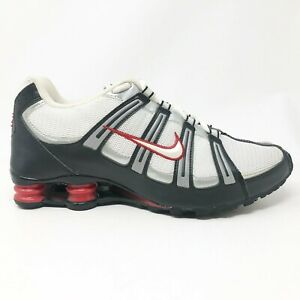 Nike-Mens-Shox-Turbo-Mesh-347521-112-White-Black-Running-Shoes-Lace-Up-Size-11-5