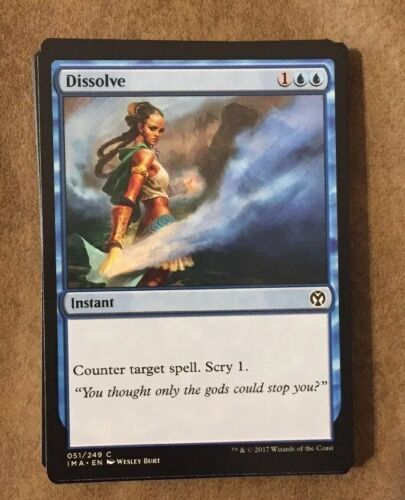 Dissolve Iconic Masters MTG x4 4x IMA Magic Common Comme neuf Pauper
