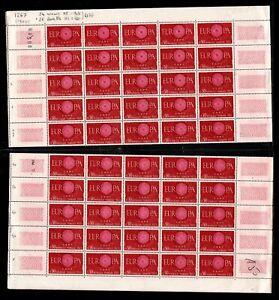 Variété : Feuille EUROPA 1960, Neufs ** = Cote 487 € / Lot Timbres France 1267a