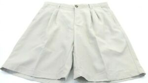 COLUMBIA-MEN-039-S-KHAKI-CASUAL-POLYESTER-SHORTS-SIZE-36