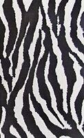 White Zebra Print Poly Cotton Fabric Animal Print 58/59 Width By The Yard P240