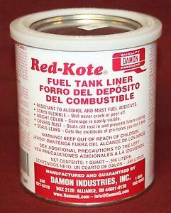 Image Is Loading Red Kote Quart Coat Gas Oil Sel Fuel