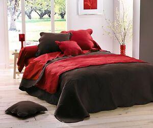 HOUSSE COUSSIN BOUTIS UNIS matelassé 60x60 cm Rouge | eBay
