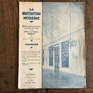 Zeitschrift Die Construction Moderne Architektur 46e Année Nr. 34 Mai 1931