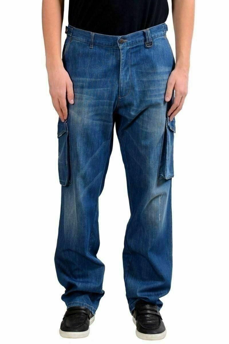 Richmond   Jeans   Uomo Blu Jeans Cargo USA 32 It