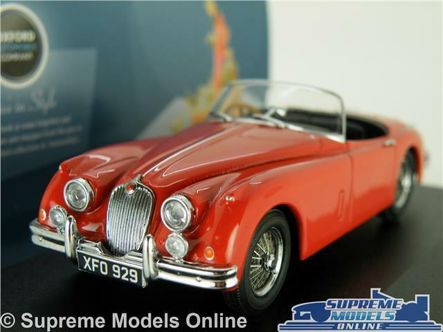 JAGUAR XK150 MODEL CAR 1 43 SCALE OXFORD 43XK150008 CARMEN RED ROADSTER K8