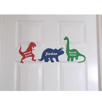 Personalised Door Name Sign Plaque Children S Dinosaur Bed