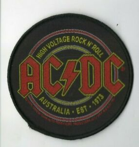 ACDC-AC-DC-High-Voltage-Rock-N-Roll-Woven-Patch