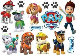 Image Is Loading EDIBLE PAW PATROL CAKE TOPPERS MARSHALL EVEREST ROCKY