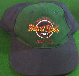 Hard-Rock-Cafe-CHICAGO-Red-Blue-Green-Baseball-HAT-HRC-STP-Logo-SAVE-THE-PLANET
