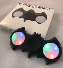 Black LED Light UP Batman Fidget Hand Spinner Stress Reduce Finger Game Desk Toy