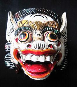 Antiquitäten & Kunst Zuversichtlich Holz Affe Maske Des Barong,weiße Farbe,handgeschnitzte In Bali,wand Maske,neu Einfach Zu Verwenden Internationale Antiq. & Kunst