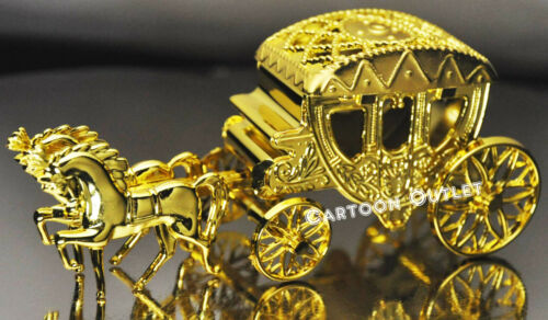 1 CARRIAGE WEDDING QUINCEANERA PARTY FAVORS TRINKET BOX  COACH GOLD CAKE TOPPER