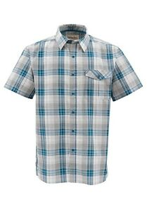 Simms-BIMINI-Short-Sleeve-Shirt-Ink-Plaid-NEW-Closeout-Size-Small