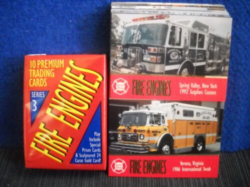 by Bon Air Collectibles 100 cards 1994 Fire Engines Series 3 Trading Card Set