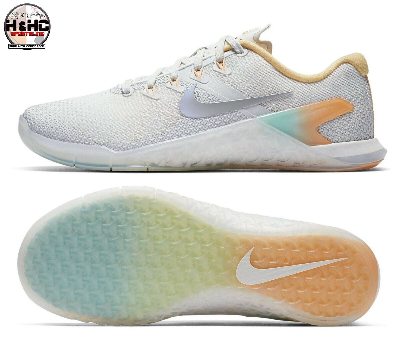 Nike Metcon 4 Rise AH8184 100 White Wolf Grey Women's Training shoes Sz 10
