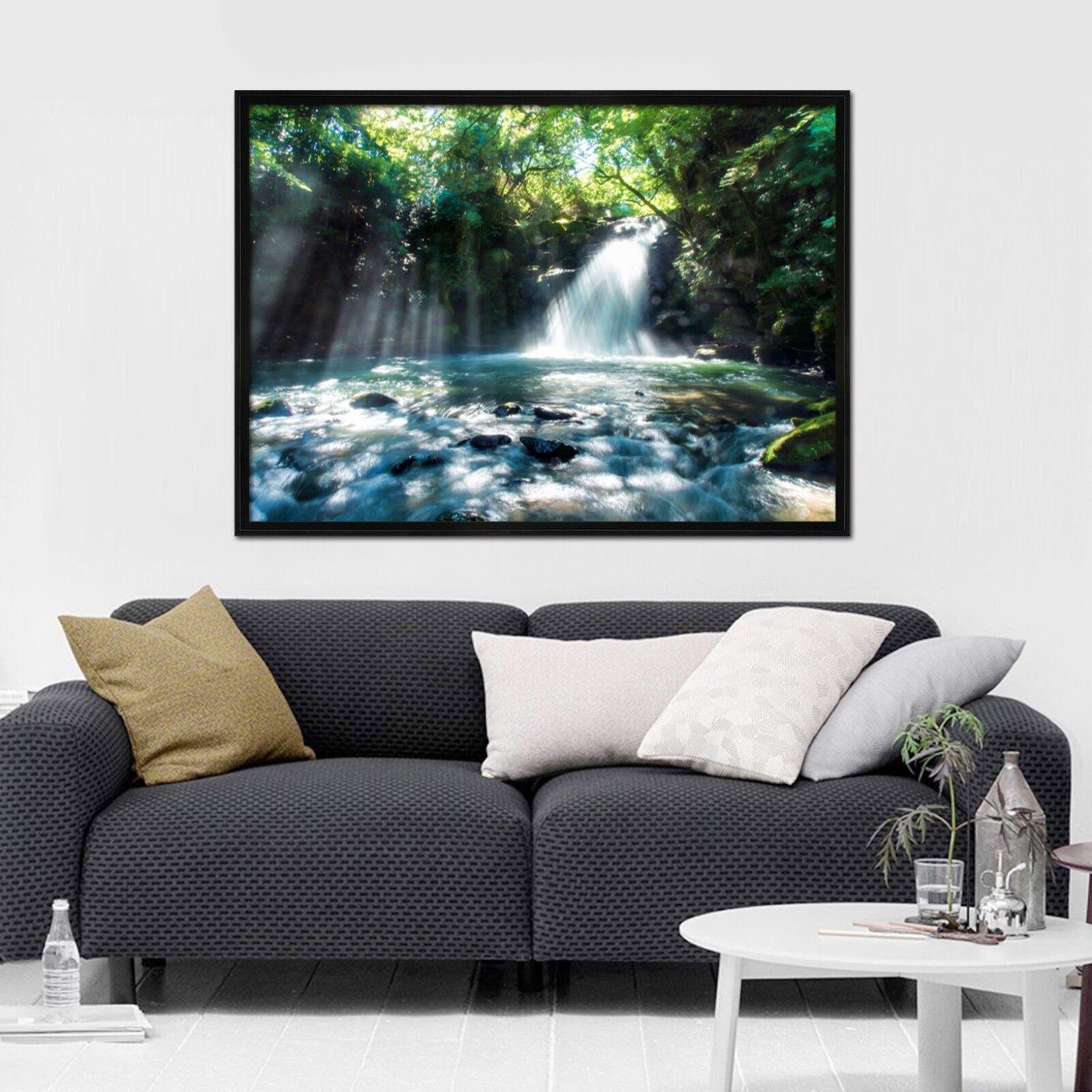 3D Tree eaufall 6 Framed affiche accueil Decor impression Painting Art AJ WALLPAPER