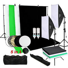 OUBO Profi Fotostudio Set Softbox Studioleuchte Studiosets Hintergrundsystem