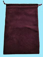 Chessex LARGE BURGUNDY DICE BAG 5x7 SUEDE Drawstring Storage Pouch Velour D&D