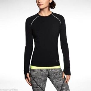 ecb9f5de Nike 588554 Women's $90 Sprint Fleece Crew Shirt Thermal Long Sleeve ...