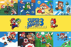 Rgc Huge Poster Super Mario Bros 3 Art Original Nintendo Nes 2