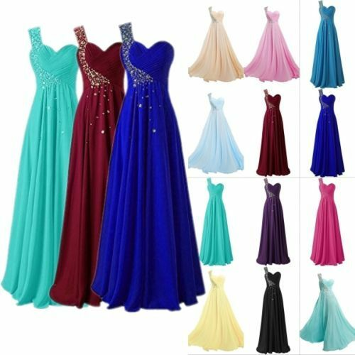 Plus Size 2-26W One Shoulder Bridesmaid Dresses Formal Evening Prom Party Gowns