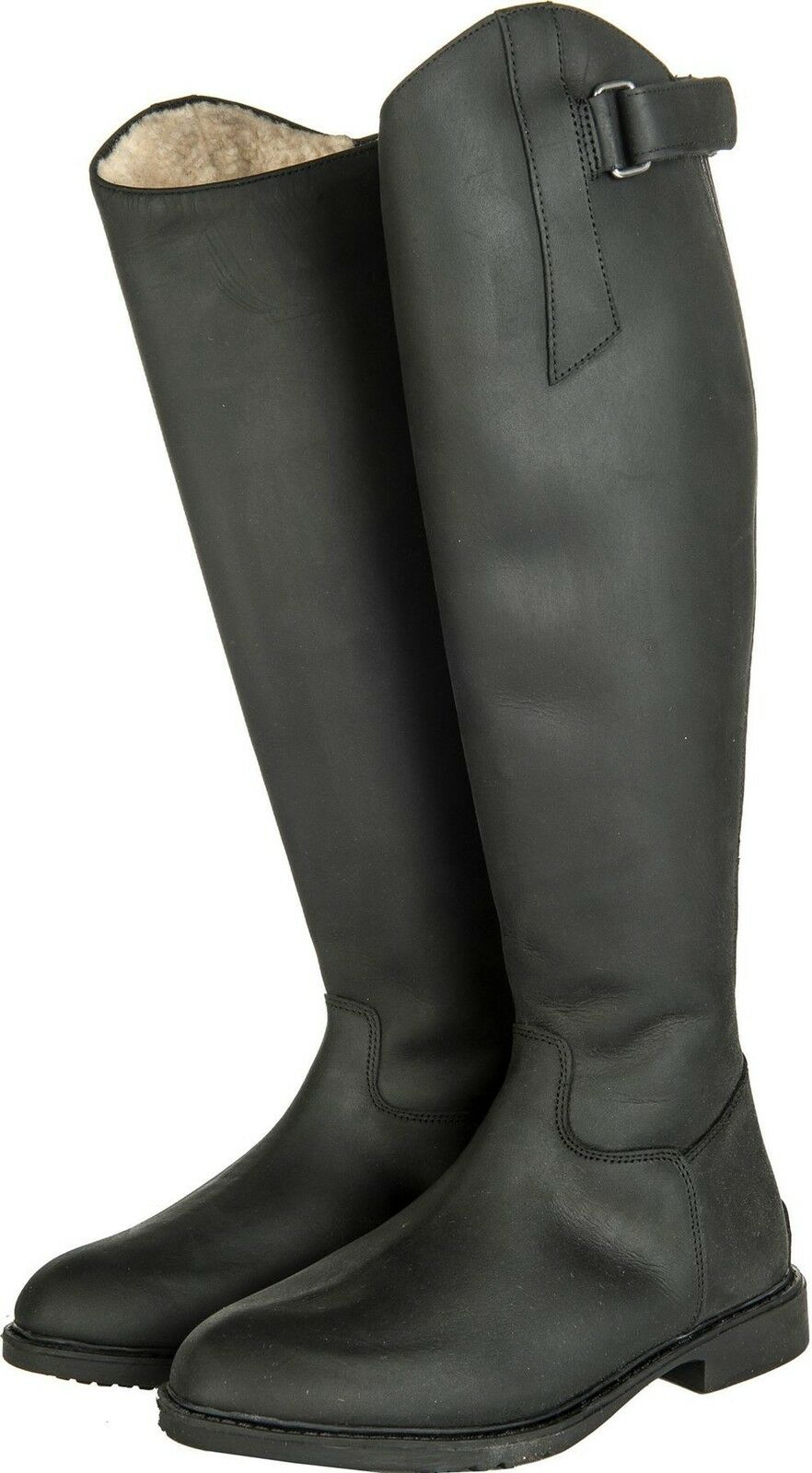 HKM Ladies Mens Flex Country Zip Waterproof Standard Leather Horse Riding Boots
