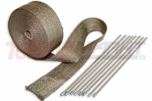 30 m Titan Hitzeschutzband bis Heat Wrap Krümmerband ink Befestigung