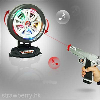 Kid's Target Practice Toy Gun Electric Infrared Music Flash Light Cap Pistol New
