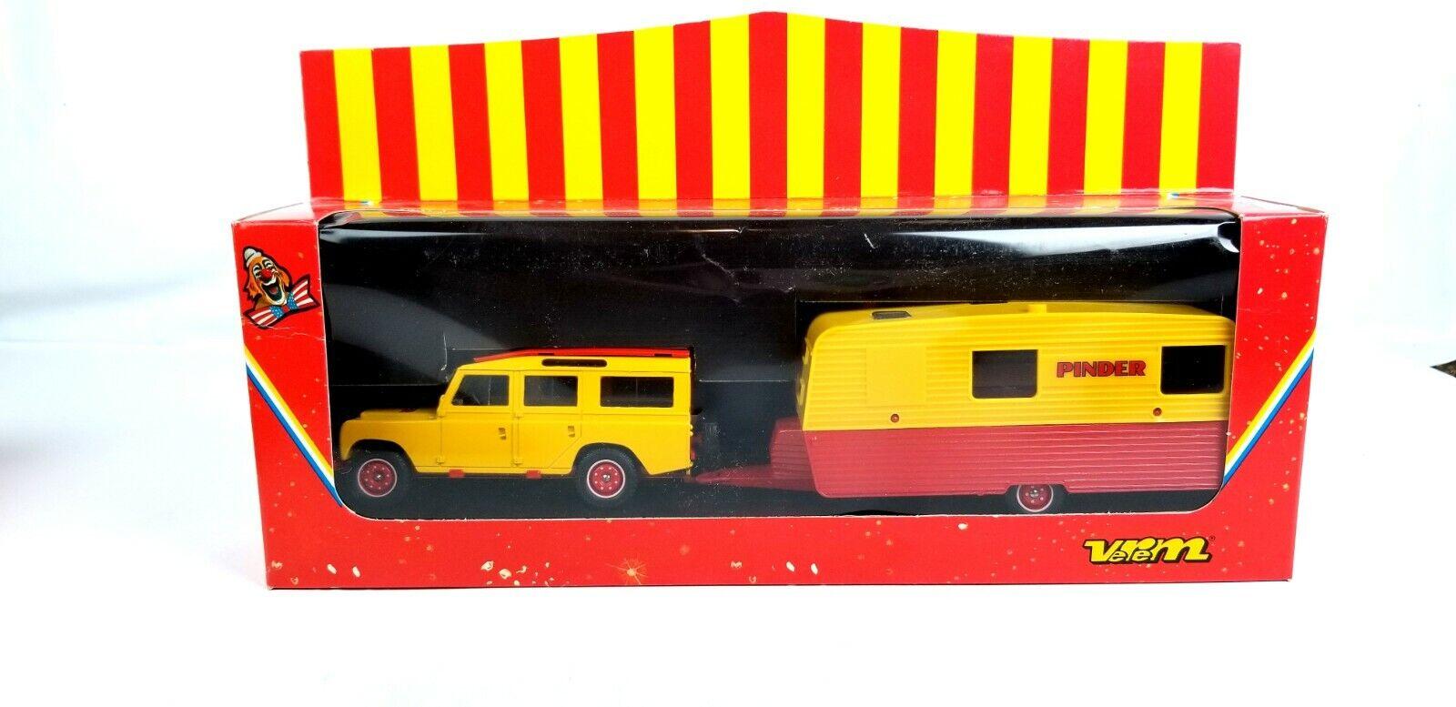 Vintage Verem Pinder giallo 1 43 o escala Diecast Metal Raro réplica de camión modelo