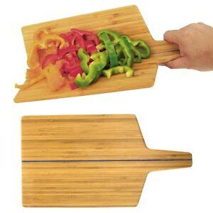 No-Spill Bendable Folding Bamboo Cutting Board