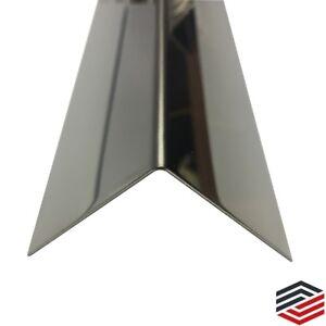 edelstahl kantenschutz winkel spiegel 40x40 mm 0 8mm stark eckschutzleiste ebay. Black Bedroom Furniture Sets. Home Design Ideas