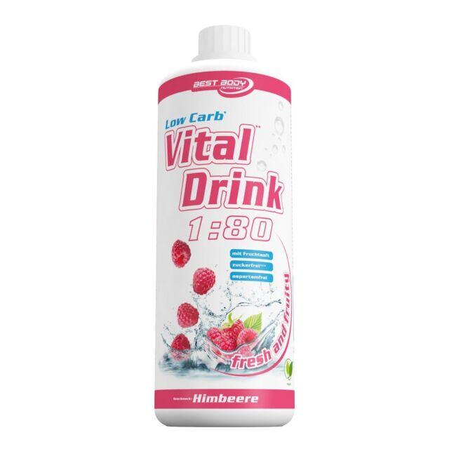Best Body Nutrition Low Carb Vital Mineral Drink 1L Himbeere Konzentrat