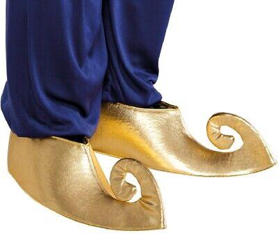 Donna Uomo Oro Aladdin Genio Arabo Copriscarpe Vestito Accessorio | eBay
