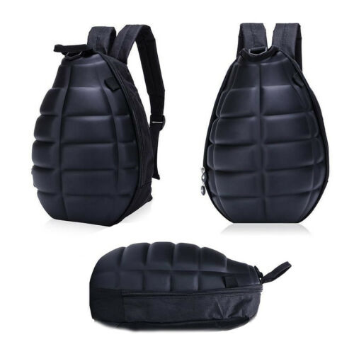 Hand Grenade Backpack Canvas Turtle Shell Style Shoulder Bag Men Women Rucksack