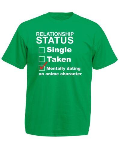 Mentally Dating An Anime Character Mens Printed T-Shirt
