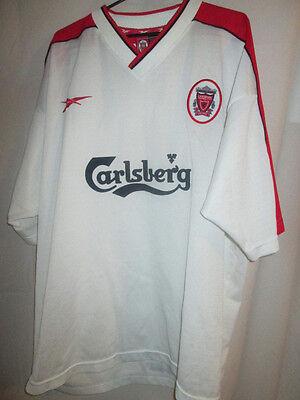 Liverpool 1998 1999 Away Carlsberg Camiseta de Fútbol Talle 46