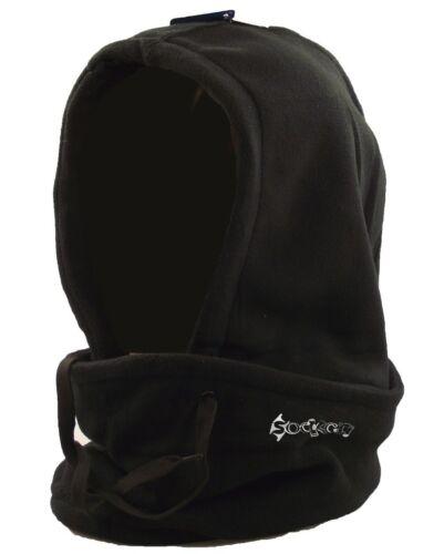 Adults Thermal Fleece 3 in 1 Hoody Snood Balaclava Neckwarmer Ski Winter Hat