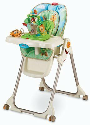 Fisher Price Healthy Care Rainforest HIGH CHAIR, Folding Portable BABY HIGHCHAIR