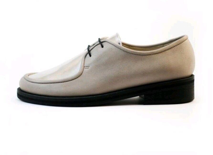 Zapatos de cuero para mujer usado en excelente estado estado estado fin de semana Peluquería zapatos talla 39 8 Beige Plata  mejor opcion
