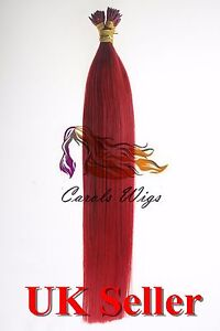 22-034-1g-Red-Stick-I-Tip-Double-Drawn-Indian-Remy-Human-Hair-Extensions-7A-UK-1st