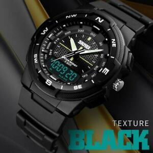 SKMEI-Uhren-Herren-Luxus-Sport-Quarz-30M-Wasserdicht-Analog-Armbanduhr