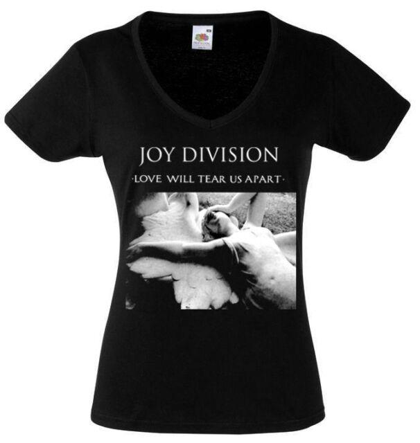 JOY DIVISION LOVE WILL TEAR US APART Lady Black Rock T-shirt Woman Rock Band Tee