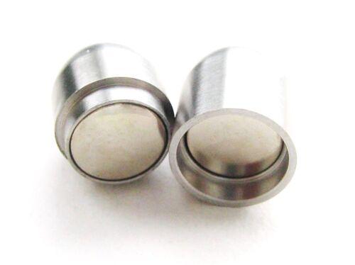 Edelstahl Magnetverschluss Schmuckverschluss 14x25mm für Bänder 10mm