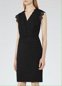 d02fbf9c2ef Details about REISS Joelie Black Lace Dress, UK Size 6, BRAND NEW
